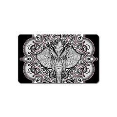 Ornate Hindu Elephant  Magnet (name Card) by Valentinaart