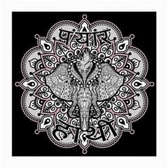 Ornate Hindu Elephant  Medium Glasses Cloth by Valentinaart