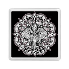 Ornate Hindu Elephant  Memory Card Reader (square)  by Valentinaart