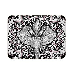 Ornate Hindu Elephant  Double Sided Flano Blanket (mini)  by Valentinaart