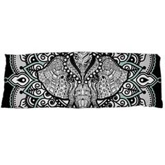 Ornate Hindu Elephant  Body Pillow Case Dakimakura (two Sides) by Valentinaart