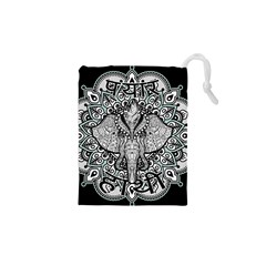 Ornate Hindu Elephant  Drawstring Pouches (xs)  by Valentinaart