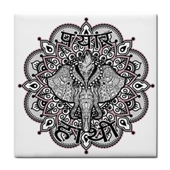Ornate Hindu Elephant  Face Towel by Valentinaart
