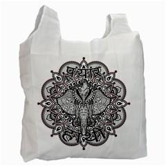 Ornate Hindu Elephant  Recycle Bag (one Side) by Valentinaart