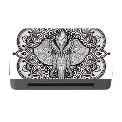 Ornate Hindu Elephant  Memory Card Reader With Cf by Valentinaart