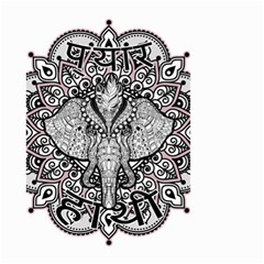 Ornate Hindu Elephant  Small Garden Flag (two Sides) by Valentinaart