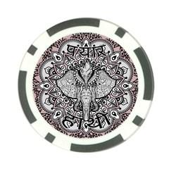 Ornate Hindu Elephant  Poker Chip Card Guard by Valentinaart