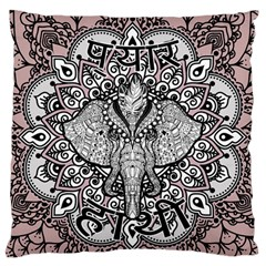 Ornate Hindu Elephant  Large Flano Cushion Case (two Sides) by Valentinaart