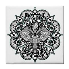 Ornate Hindu Elephant  Tile Coasters by Valentinaart