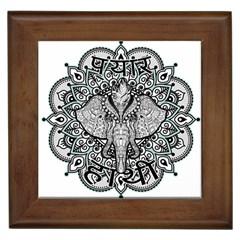 Ornate Hindu Elephant  Framed Tiles by Valentinaart