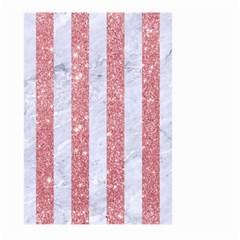 Stripes1 White Marble & Pink Glitter Large Garden Flag (two Sides) by trendistuff