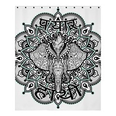 Ornate Hindu Elephant  Shower Curtain 60  X 72  (medium)  by Valentinaart