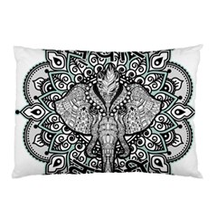Ornate Hindu Elephant  Pillow Case (two Sides) by Valentinaart
