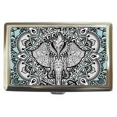 Ornate Hindu Elephant  Cigarette Money Cases by Valentinaart
