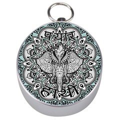 Ornate Hindu Elephant  Silver Compasses by Valentinaart