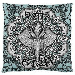Ornate Hindu Elephant  Large Flano Cushion Case (one Side) by Valentinaart