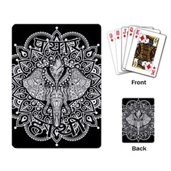 Ornate Hindu Elephant  Playing Card by Valentinaart