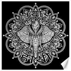Ornate Hindu Elephant  Canvas 12  X 12