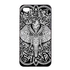 Ornate Hindu Elephant  Apple Iphone 4/4s Seamless Case (black) by Valentinaart