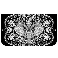 Ornate Hindu Elephant  Lunch Bag by Valentinaart