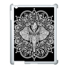 Ornate Hindu Elephant  Apple Ipad 3/4 Case (white) by Valentinaart