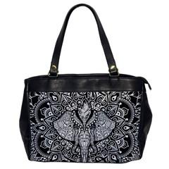 Ornate Hindu Elephant  Office Handbags by Valentinaart