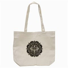 Ornate Hindu Elephant  Tote Bag (cream) by Valentinaart