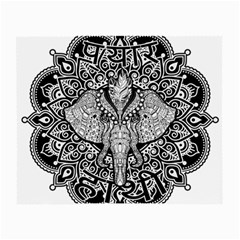 Ornate Hindu Elephant  Small Glasses Cloth (2 Side) by Valentinaart