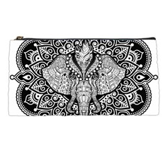 Ornate Hindu Elephant  Pencil Cases by Valentinaart