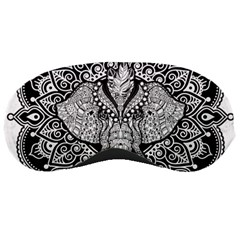 Ornate Hindu Elephant  Sleeping Masks by Valentinaart
