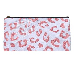 Skin5 White Marble & Pink Glitter Pencil Cases by trendistuff