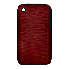 Red Lizard Leather Print Iphone 3s/3gs