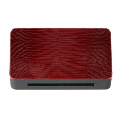Red Lizard Leather Print Memory Card Reader With Cf