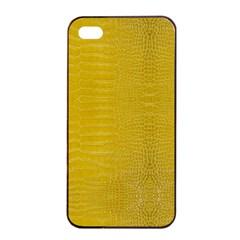Yellow Alligator Skin Apple Iphone 4/4s Seamless Case (black)