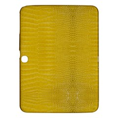 Yellow Alligator Skin Samsung Galaxy Tab 3 (10 1 ) P5200 Hardshell Case