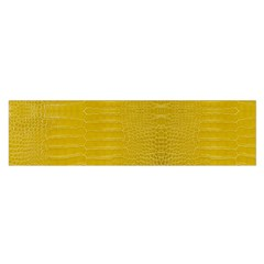 Yellow Alligator Skin Satin Scarf (oblong)