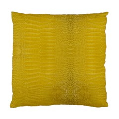 Yellow Alligator Skin Standard Cushion Case (two Sides)