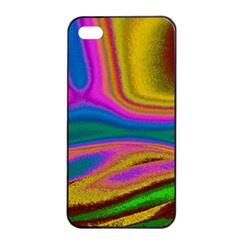 Colorful Waves Apple Iphone 4/4s Seamless Case (black)