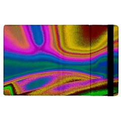 Colorful Waves Apple Ipad 2 Flip Case