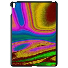 Colorful Waves Apple Ipad Pro 9 7   Black Seamless Case
