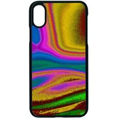 Colorful Waves Apple Iphone X Seamless Case (black) by LoolyElzayat