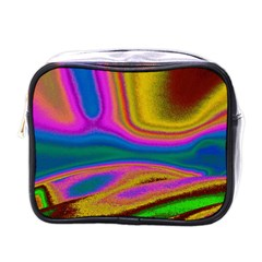 Colorful Waves Mini Toiletries Bags