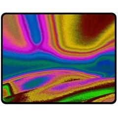 Colorful Waves Fleece Blanket (medium)  by LoolyElzayat