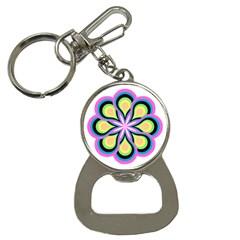Colorful Feathers Mandala Bottle Opener Key Chains by LoolyElzayat