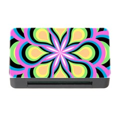 Colorful Feathers Mandala Memory Card Reader With Cf