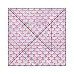 Scales3 White Marble & Pink Glitter (r) Acrylic Tangram Puzzle (6  X 6 ) by trendistuff