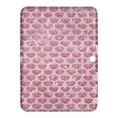 Scales3 White Marble & Pink Glitter Samsung Galaxy Tab 4 (10 1 ) Hardshell Case  by trendistuff