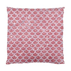Scales1 White Marble & Pink Glitter Standard Cushion Case (one Side) by trendistuff