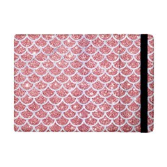 Scales1 White Marble & Pink Glitter Apple Ipad Mini Flip Case by trendistuff