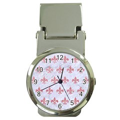 Royal1 White Marble & Pink Glitter Money Clip Watches by trendistuff